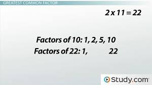 how to find the greatest common factor lesson transcript study com