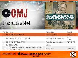 Corban Nation Takes The 1 Slot On The Cmj Top Jazz Adds