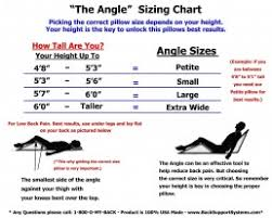 Angle Size Chart The Angle System 3 Piece Guaranteed To Help Reduce Back Pain