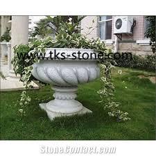 g603 grey granite pots stone flower