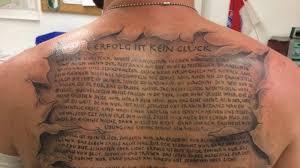 Rap Zitate Als Tattoo Welche Lines Sich Fans Tätowieren Lassen