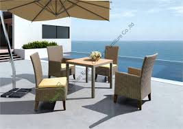 High End Outdoor Furniture Beautiful Wood for Table top Style High