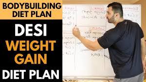 Desi Weight Gain Bodybuilding Diet Plan Hindi Punjabi