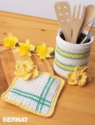 Kitchen Accessory Bernat Springtime Crochet Kitchen Accessories Crochet Pattern