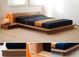 oregon oak bed a dramatic low platform bed the mattress sits inside ...
