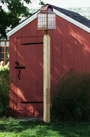 hammerworks wooden cedar lamp posts are 5x5 square with chamfered edges