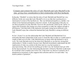 compare and contrast the roles of lady macbeth and lady macduff in  document image preview