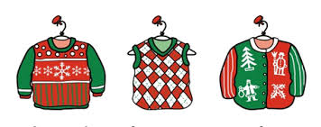 Ugly Christmas Sweater Party Clip Art (06)