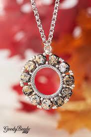 goodybeads blog czech honeycomb groovey bead frame pendant golden tweedy honeycomb necklace