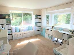 Home office on a budget Amazing Tiffany Blue Home Office Pretty Home Office Makeover Home Office Remodel Budget Friendly Party Pinching Tiffany Blue Home Office Makeover Gold Accents Pretty Office On