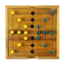 Wooden Board Game With Pegs