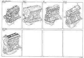 TOYOTA COROLLAAE100-AEMEK - TOOL-ENGINE-FUEL - PARTIAL ENGINE ...