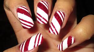 Candy Cane Nail Art Tutorial - YouTube