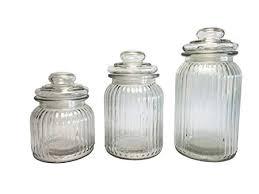 Decorative Glass Storage Jars