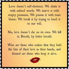 Love doesn\u0027t self destruct | Empty promises, Relationship quotes ...