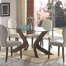 glass top pedestal dining table design