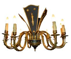 gold chandelier 12 lights with black plaque