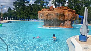 the waterfall is a fun addition to the wyndham lake buena vista pool