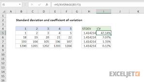Excel Chart Average And Standard Deviation Excel Formula Coefficient Of Variation Exceljet