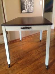 Rustoleum Driftwood Stain Ikea Table Turned Into A Kitchen Island Rust Oleum Chalked Paint