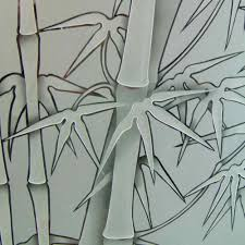 Frosted Glass Designs Bamboo Glass Designs Sans Soucie Art Glass