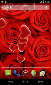 Roses and Heart Live Wallpaper for ...