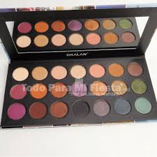 dels about okalan wonderful journey eyeshadow palette high pigment warm tones makeup colors