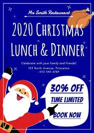 christmas dinner poster online christmas restaurant special offer poster template fotor