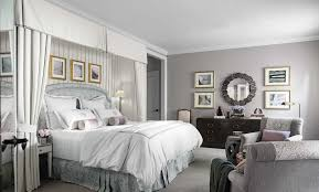 Bedroom:Vintage Bedroom With White Curatin And Gray Wall And Bed Design  Ideas Grey Bedroom