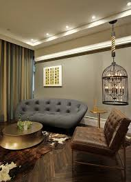 view in gallery eclectic living room with a bird cage lighting option design plan design group