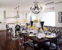 regina sturrock recessed lighting under counter with crystal pendants chandelier over kitchen island and dinning room