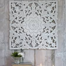 white washed mango wood. Carved Mango Wood White Washed Panel