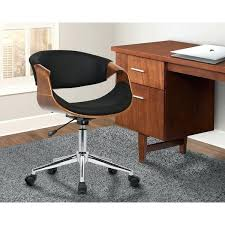 mid century office chair. Mid Century Desk Chair Armen Living Geneva Office In Chrome Finish With Black H