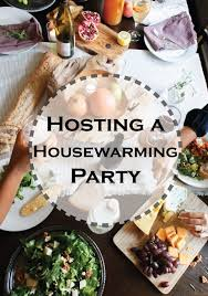 Tips and ideas for hosting a housewarming party  or any party at home!