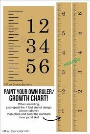 Growth Chart Stencil Designs 3302 Ruler Growth Chart