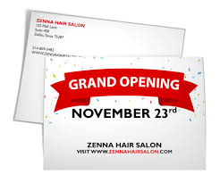 Grand Opening Postcards Confetti Grand Postcard Postcards By 123print