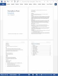 Transition Plan Template - Technical Writing Tips
