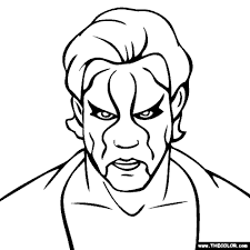 Small Picture Sting WWE Coloring Pages Printables free image