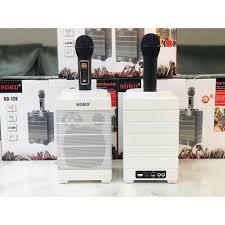 TĂNG 2 MICRO KHÔNG DÂY] Bộ 2 Loa Karaoke Bluetooth SDRD SD-128, hát karaoke  tại nhà, đi picnic, party - sang trọng giá cạnh tranh