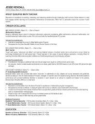 Objective For School Teacher Resume sample math teacher resumes Tolgjcmanagementco 100