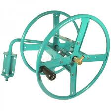 wall mounted steel hose reel kit s 75m of 1 2 garden hose 1 of 1only 2 available