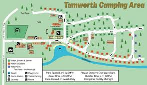 tamworth cing area site map