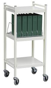 Medical Chart Carts With Vertical Racks Mini Open Chart Racks 5 15 Capacity