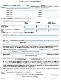 Blank Lease Agreement Basic Agreements Printable Sample Simple Room ...