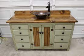 Rustic Farmhouse Vanity Copper Sink 60 Sage Green Bathroom Vanity Bathroom Vanity With Sink Rustic Vanity Farmhouse Vanity