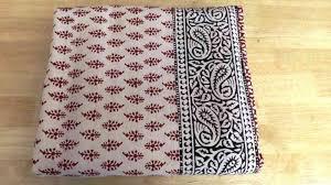 hand block printed bed sheets b7