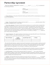 Partnership Agreement Free Template Agreement Partnership Agreement Form 1