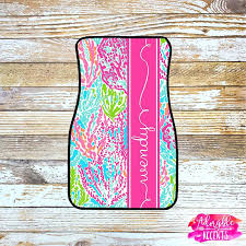 let cha cha lilly pulitzer personalized lilly inspired car mats lets