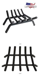 andirons grates and firedogs 79648 black heavy duty steel 5 bar fireplace grate log cast solid pleasant hearth it now only 59 99 on