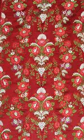 Tibetan Fabric Design Cordovan Red Tibetan Handloom Floral Brocade Indian Fabric